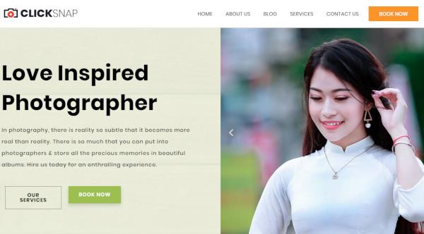 click snap bootstrap wordpress theme