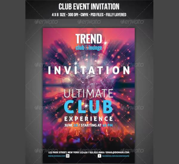 Club Event Invitation Template