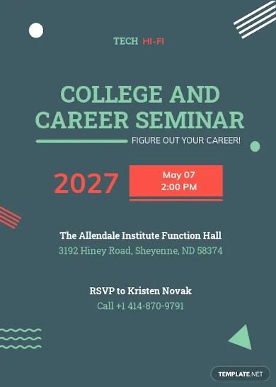 college seminar invitation template