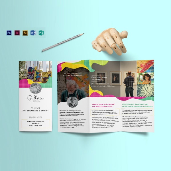 colorful artistic event brochure format