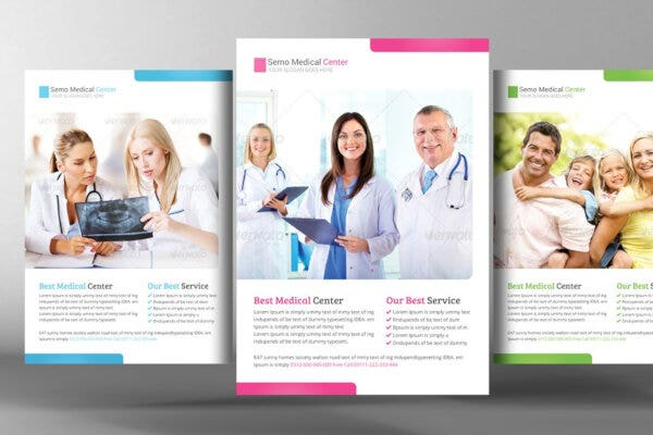 colorful health care posters