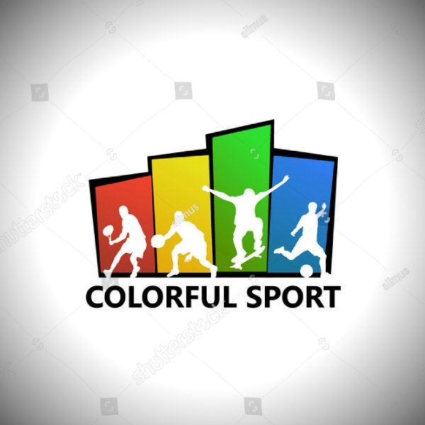 colorful sports multipurpose logo template