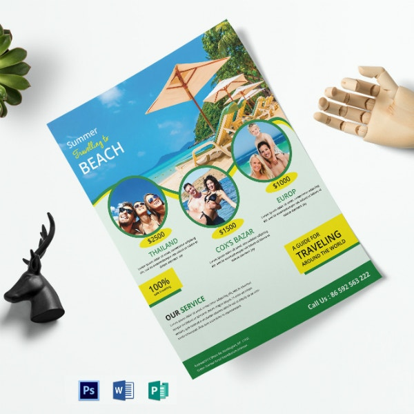 colorful travel company flyer format
