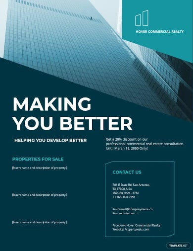 commercial lease realestate flyer template