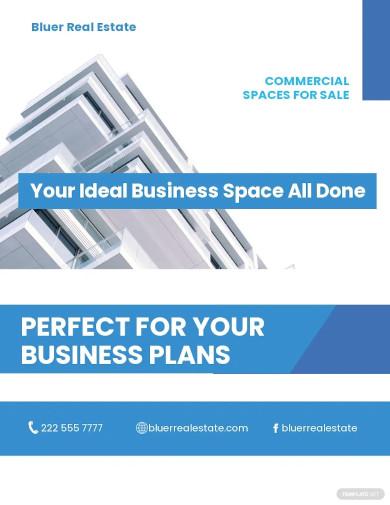 commercial real estate broker flyer template