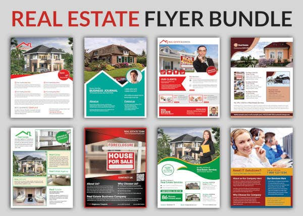 commercial real estate flyer bundle