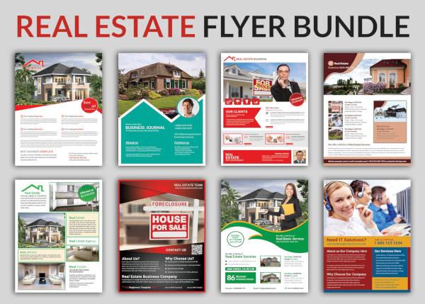 commercial real estate flyer bundle
