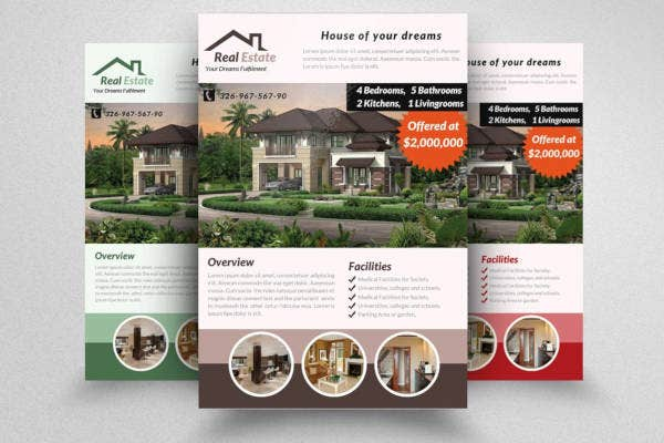 commercial real estate flyer design