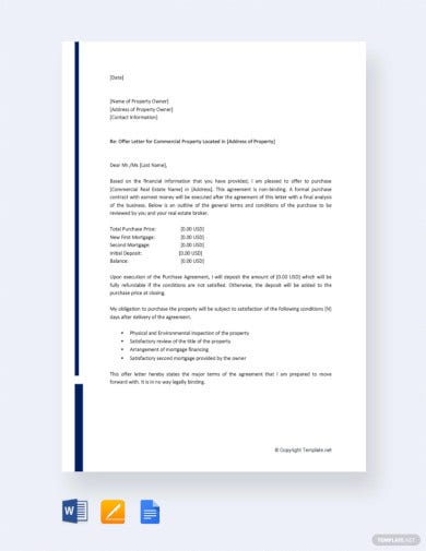 commercial-real-estate-offer-letter-template