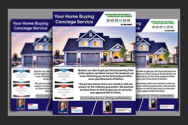 commercial real estate service flyer