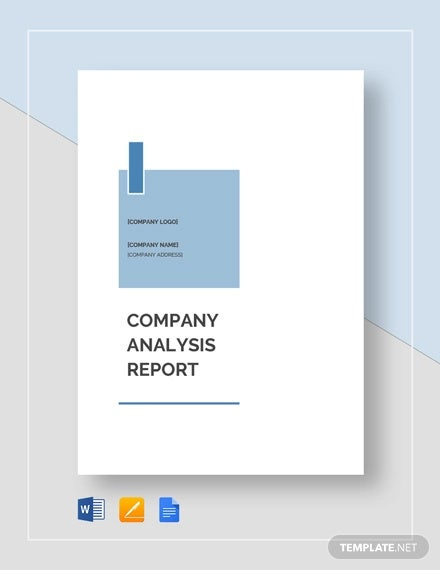 company analysis report template2