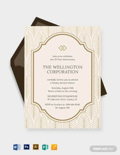 company anniversary invitation template1