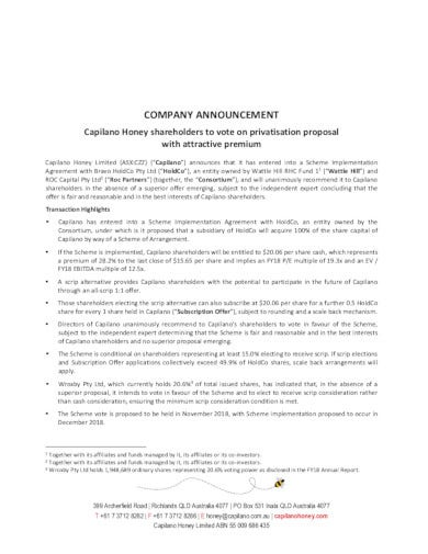 company announcement template example