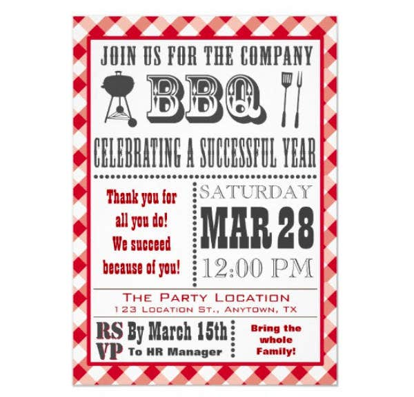 company barbecue invitation template