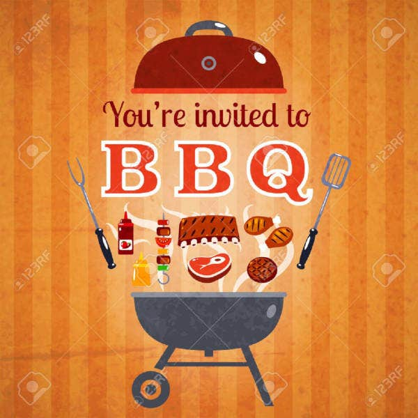 company barbecue party invitation template