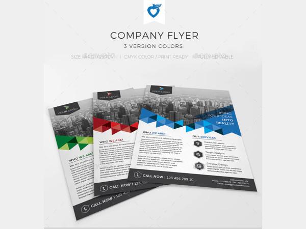 company flyer in vector eps