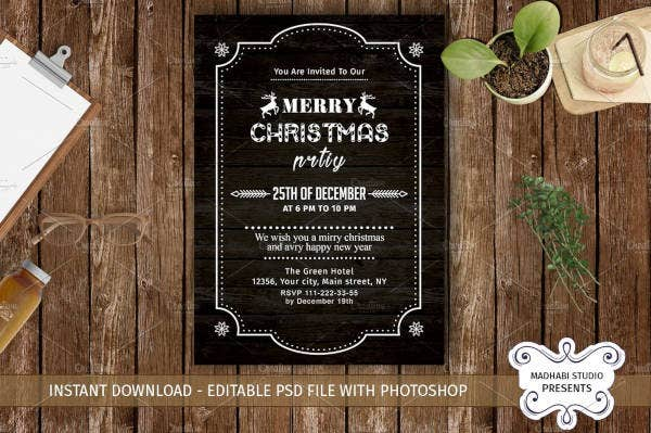 company invitation for christmas party