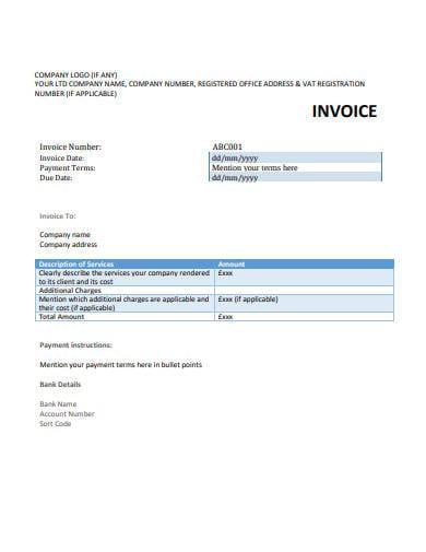 company invoice example in pdf