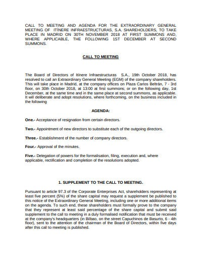 company meeting agenda format