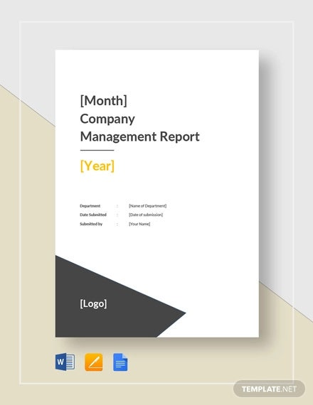 company monthly management report template1