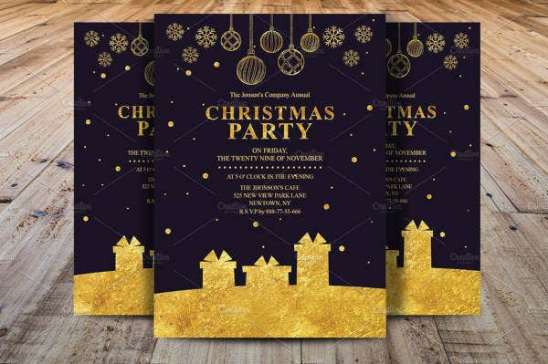 company party invitation in psd