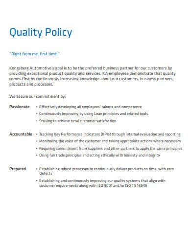 company quality policy in pdf format
