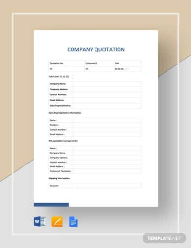 company quotation templates