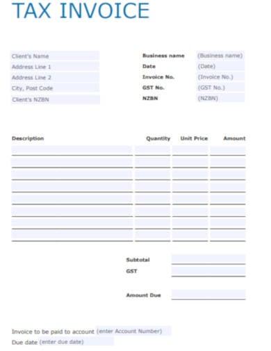 company tax invoice template