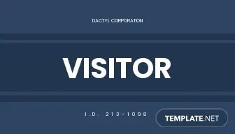 company visitor id card template1