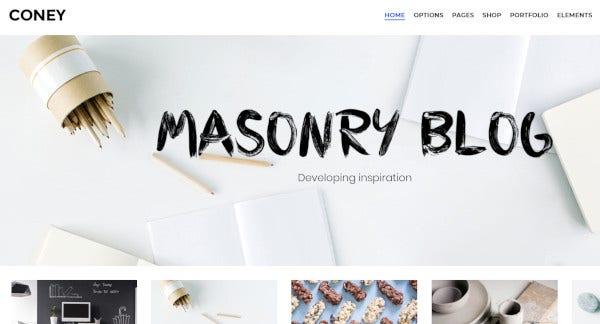 coney visual composer plugin wordpress theme