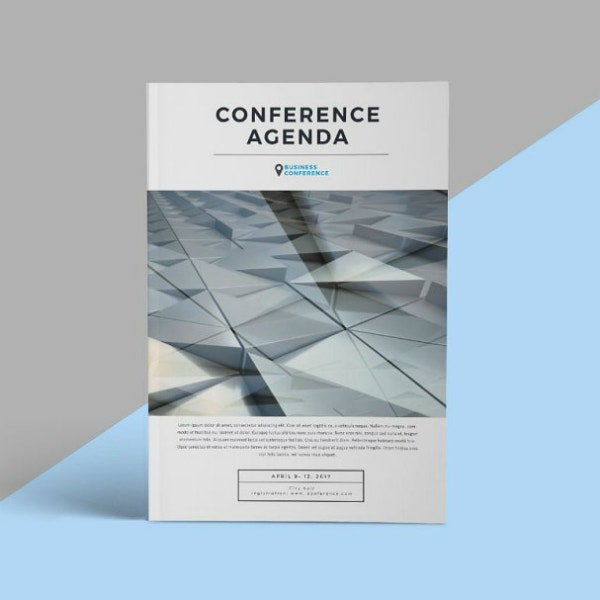 Conference Agenda Event Brochure Layout