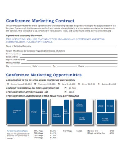 conference marketing contract example