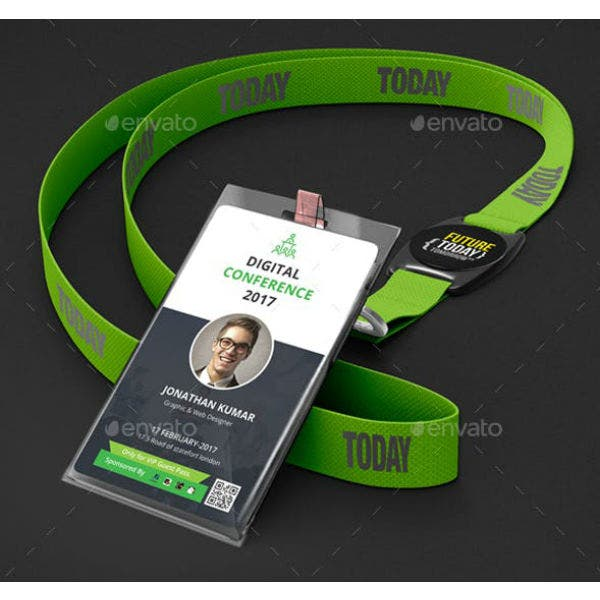 conference vip pass id card sample