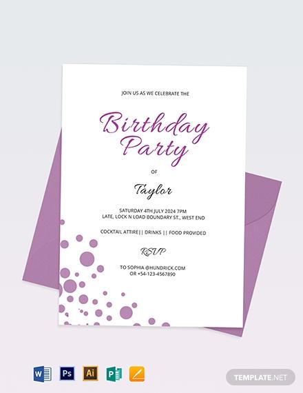 confetti invitation template