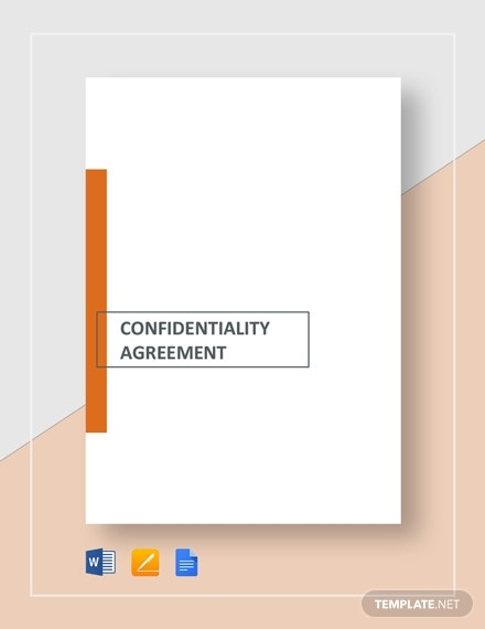 confidentiality agreement for consultants contractors