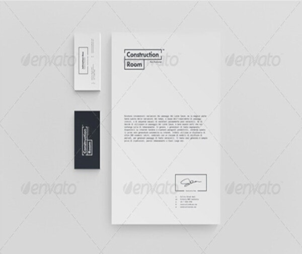 Construction Branding Letterhead Template