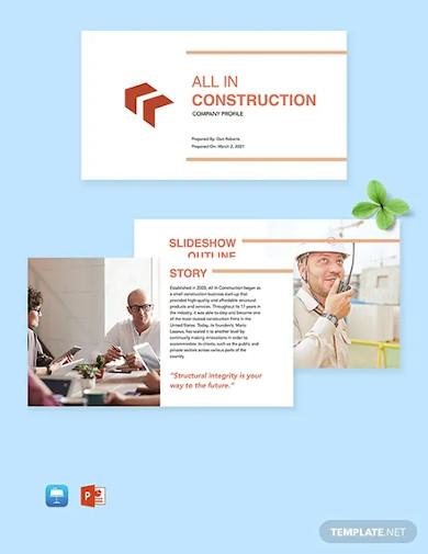 construction company profile template1