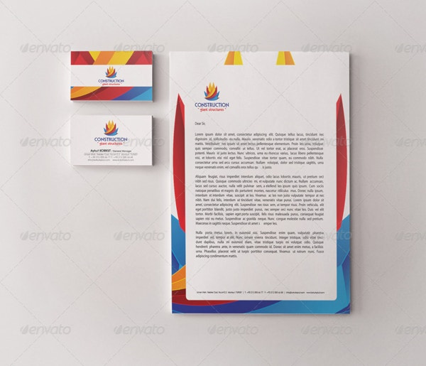Construction Identity Letterhead Template