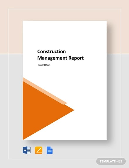 construction management report template