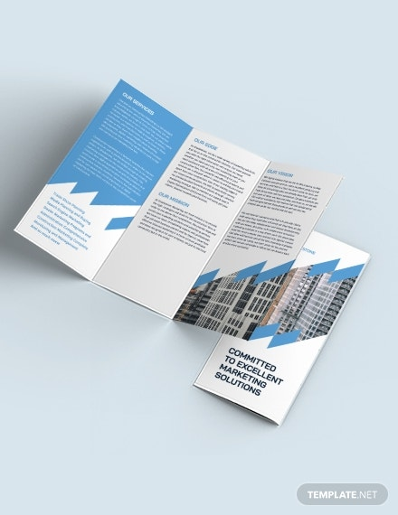 construction marketing tri fold brochure