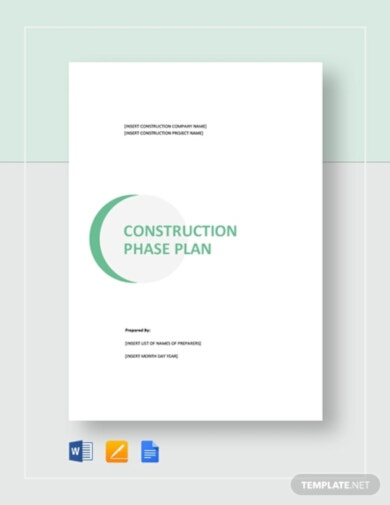 construction phase plan template downloadable