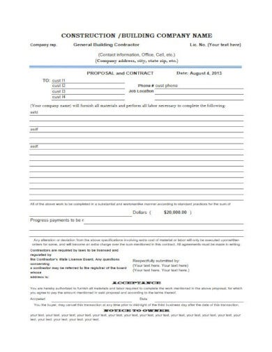 construction proposal template in pdf format