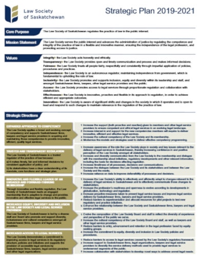 contemporary legal strategic plan template
