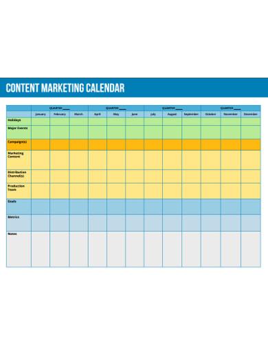 content for marketing calendar