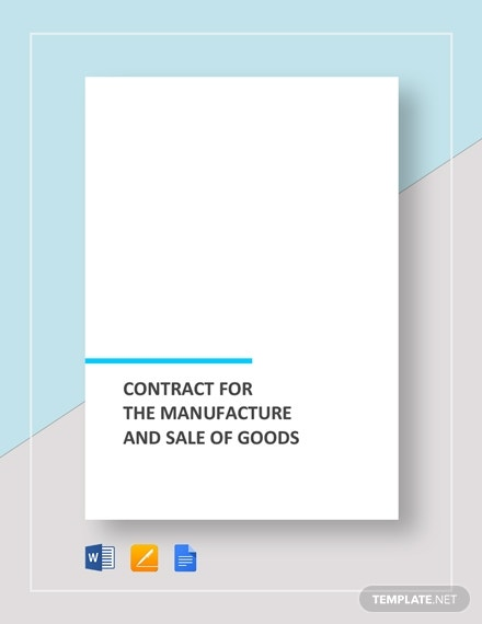 contract for the manufacture and sale of goods