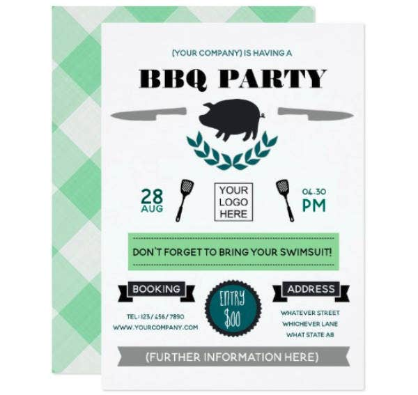 corporate barbecue invitation template