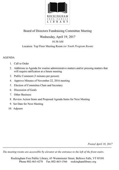 10  fundraising meeting agenda templates