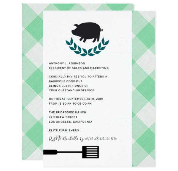corporate company bbq invitation