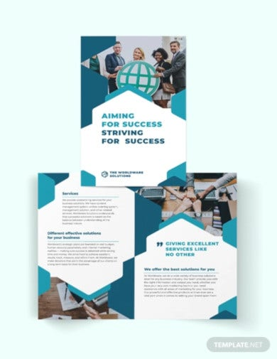 corporate company bi fold brochure template