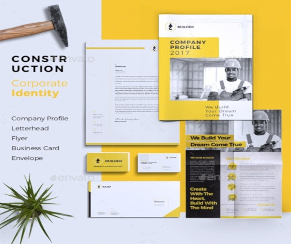 Corporate Construction Letterhead Template
